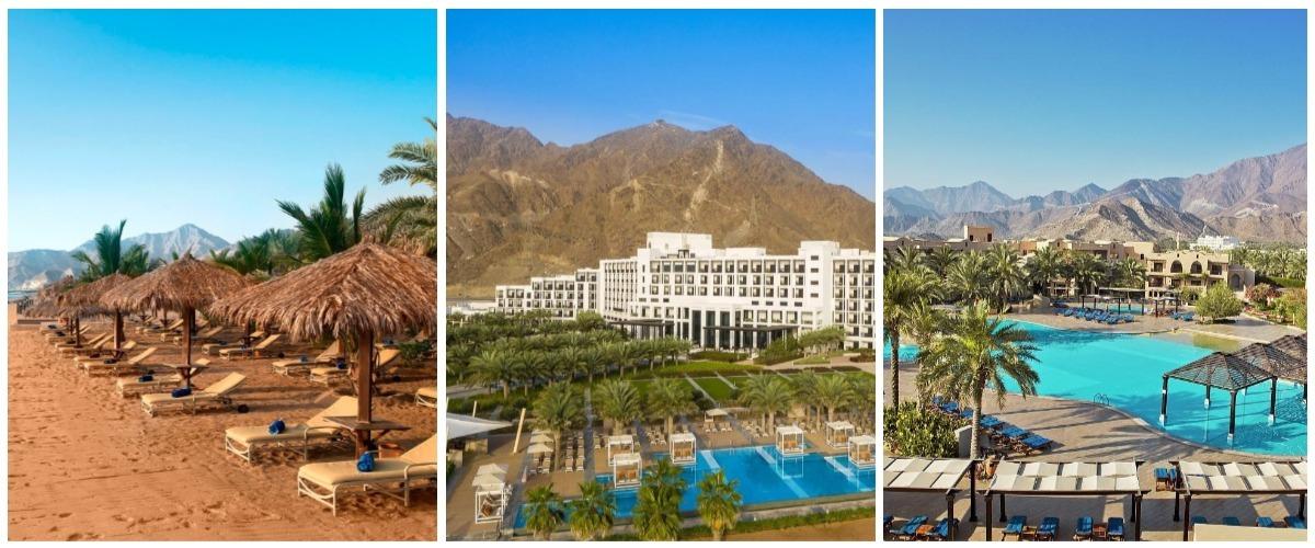 Большинство отелей Фуджейры расположены между идеальным песчаным побережьем и величественными Аджарскими горами.