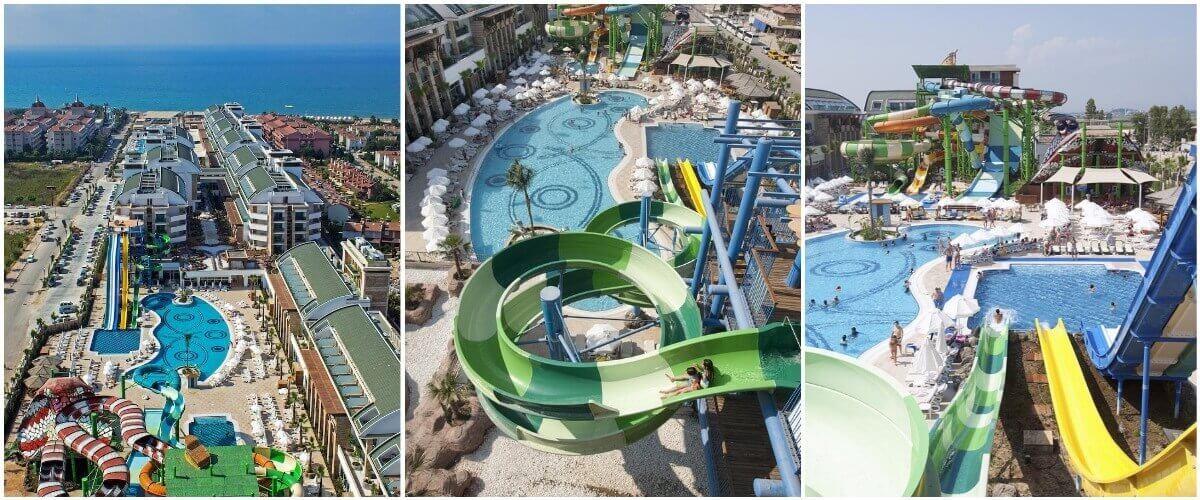 Аквапарк отеля Crystal Waterworld Resort & Spa 5* в Белеке